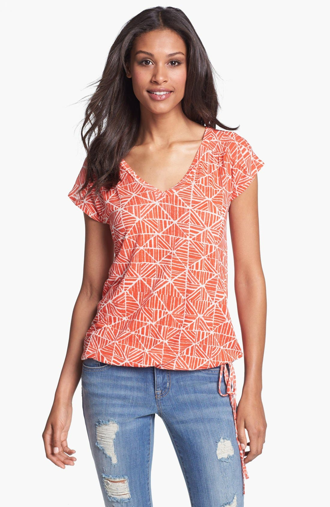 Alternate Image 1 Selected - Lucky Brand 'Marny' Print Tee