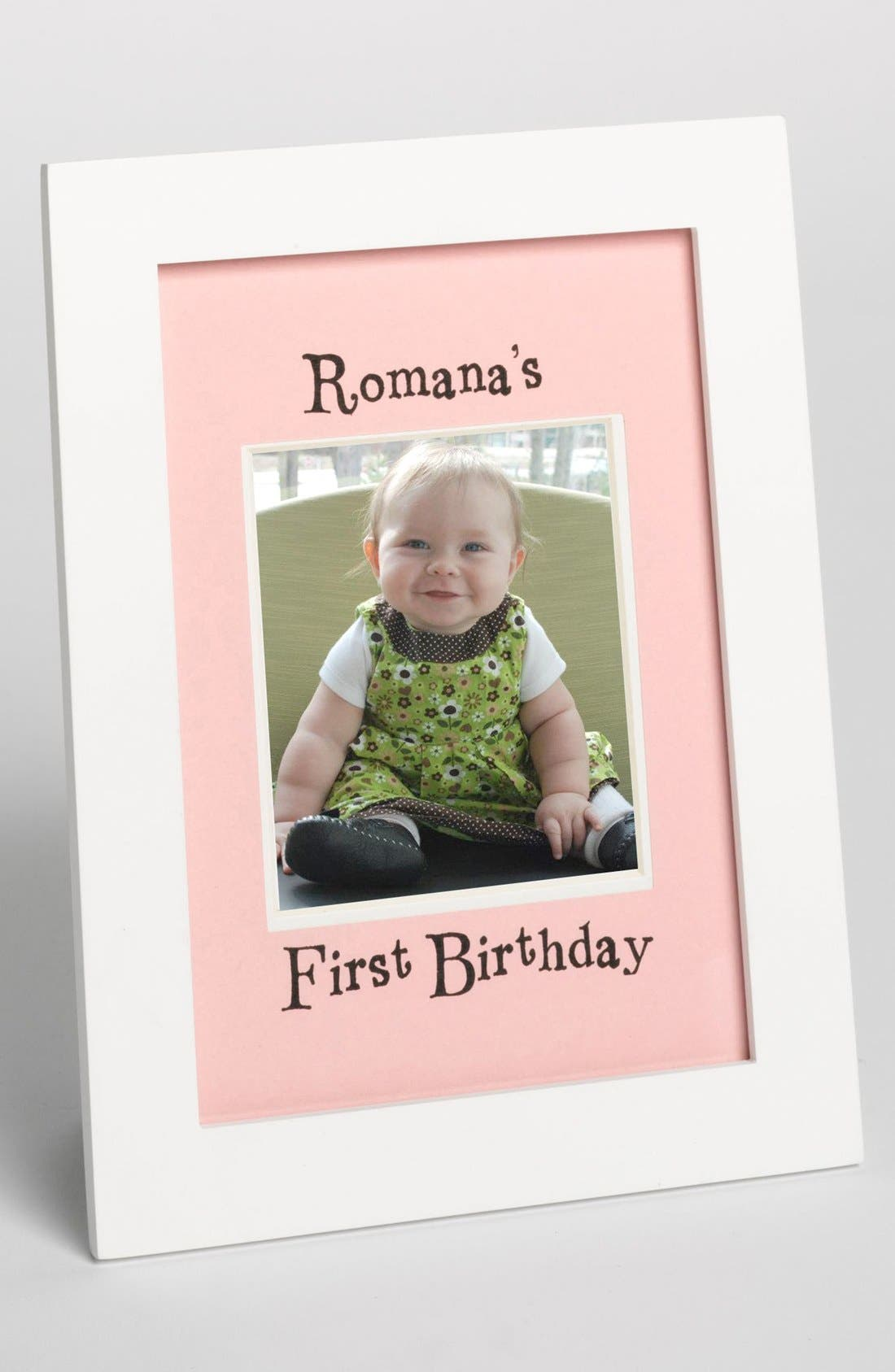 Alternate Image 1 Selected - FRAME PINK FIRST BIRTHDAY