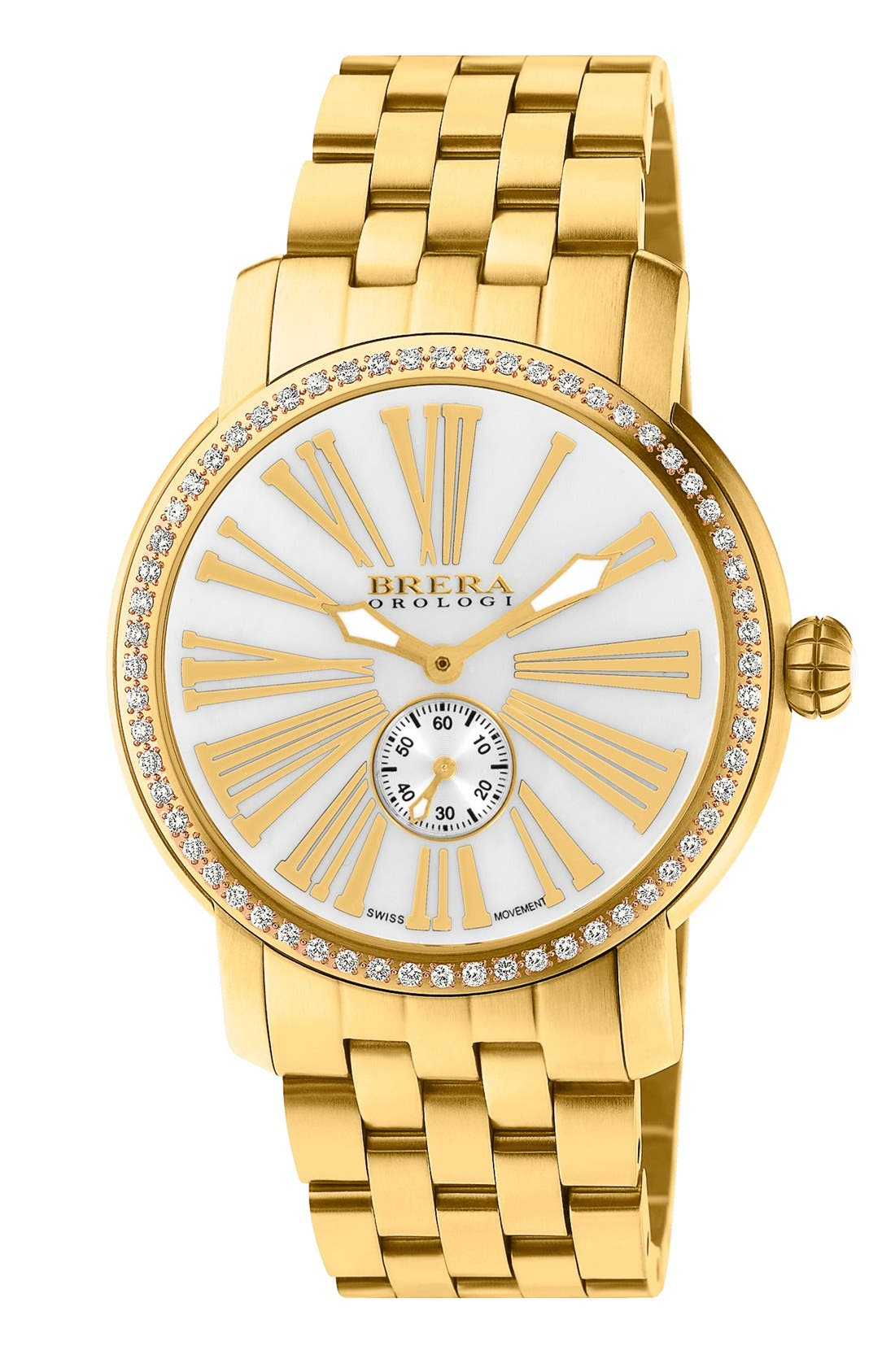 Alternate Image 1 Selected - Brera 'Valentina' Diamond Bracelet Watch, 42mm
