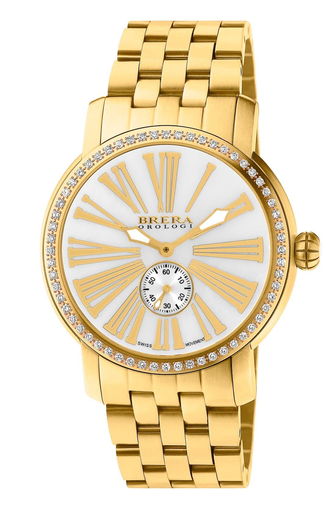 Main Image - Brera 'Valentina' Diamond Bracelet Watch, 42mm