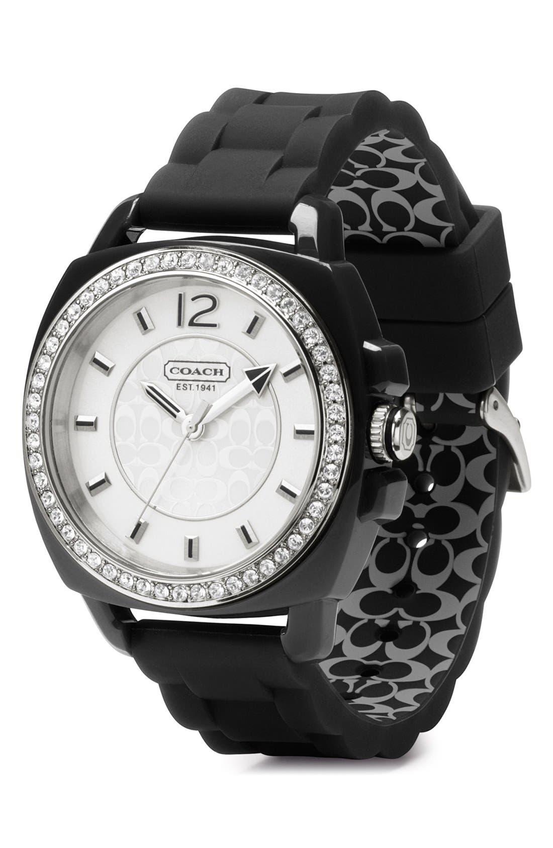 Alternate Image 2  - COACH 'Boyfriend' Crystal Bezel Watch, 39mm