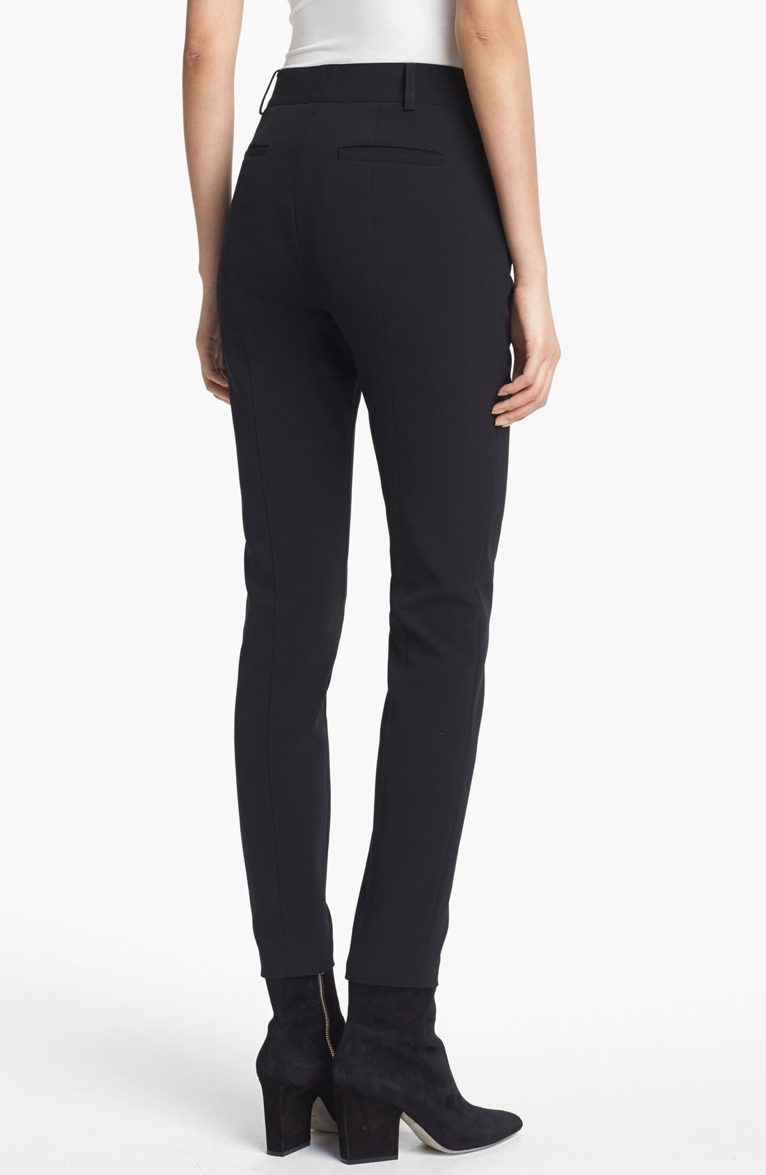 Alternate Image 2  - Alexander Wang Seamed Skinny Pants