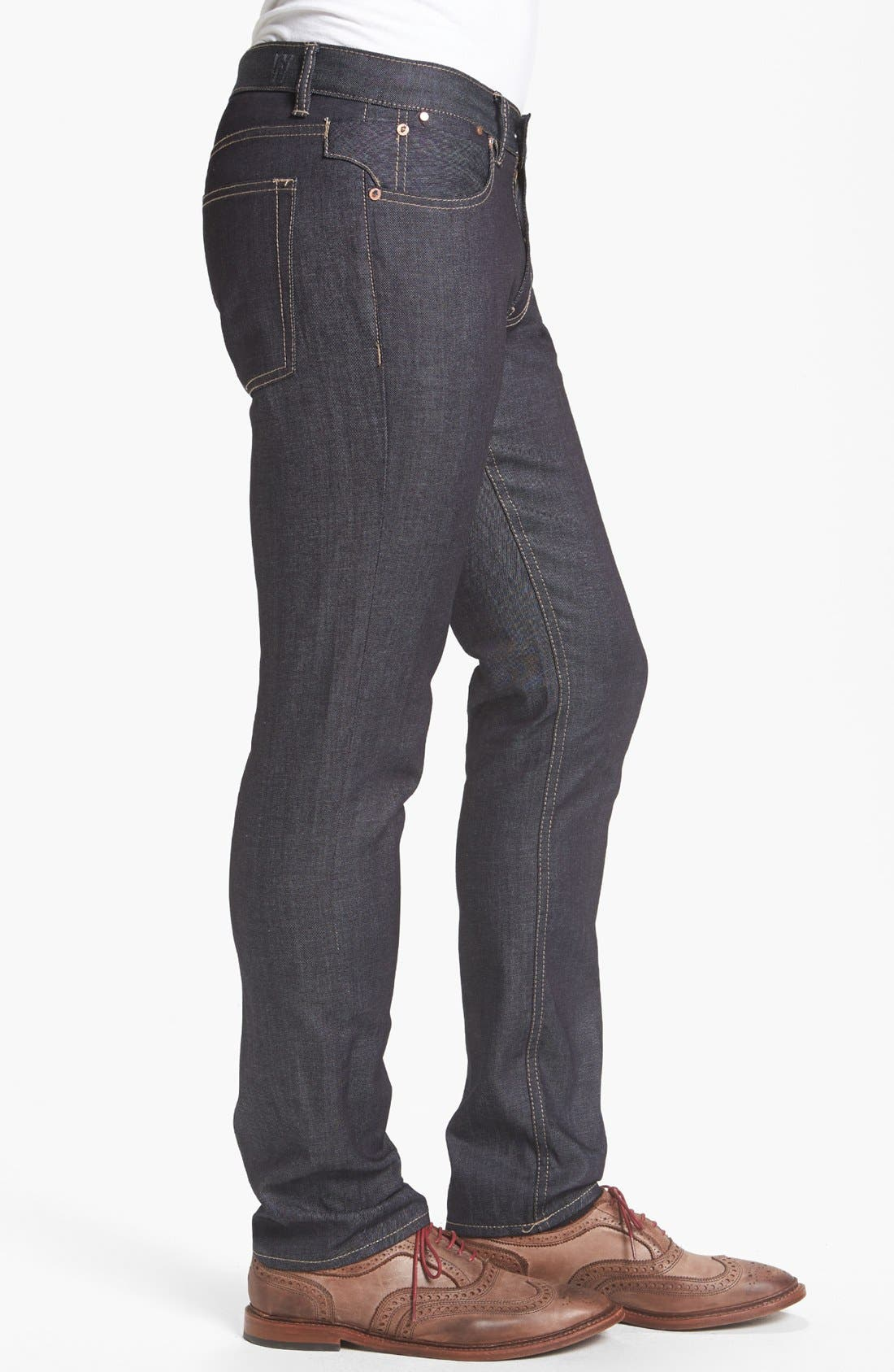 Alternate Image 3  - Williamsburg Garment Company Lightweight 'Grand Street' Slim Fit Jeans (Raw)