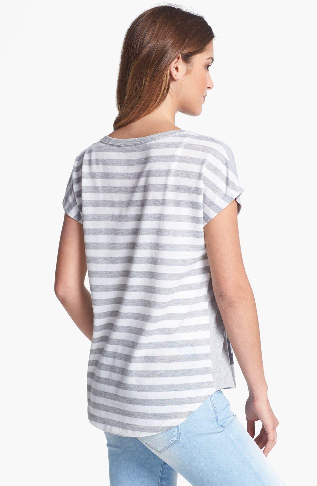 Alternate Image 2  - Pleione Stripe Back Graphic Tee
