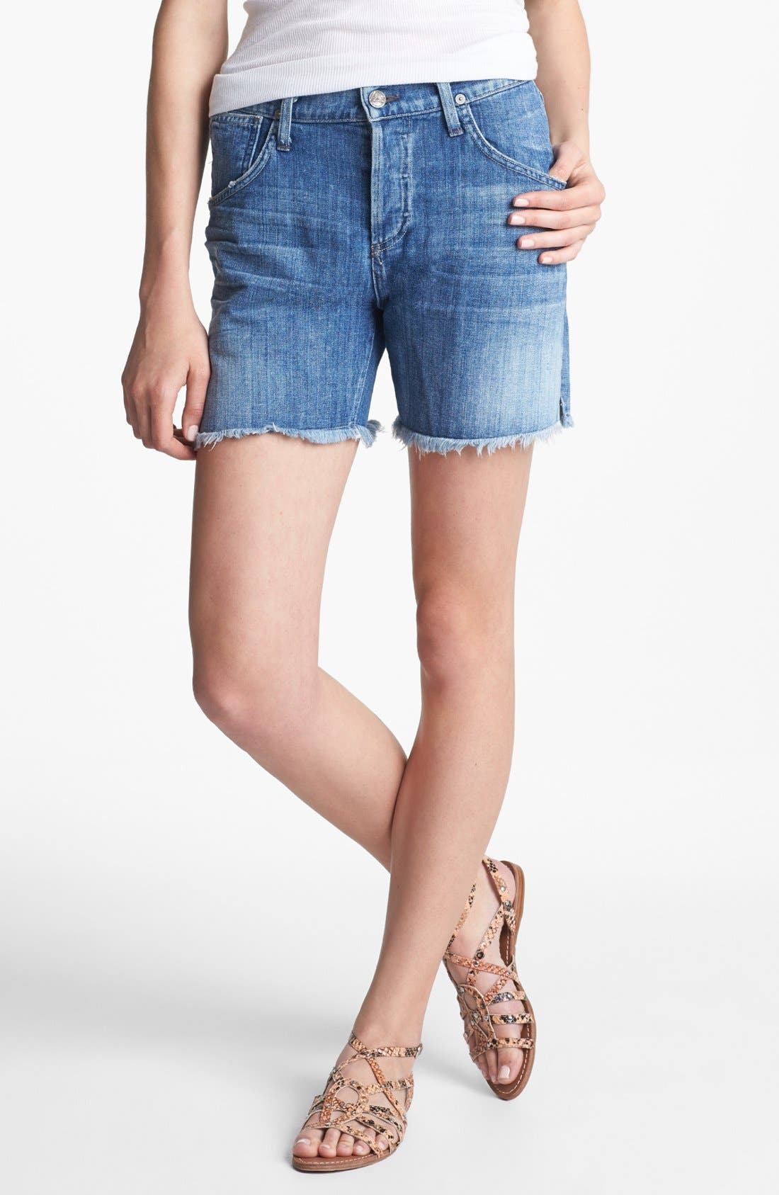 Alternate Image 1 Selected - Citizens of Humanity 'Ines' Cutoff Shorts (Heirloom)