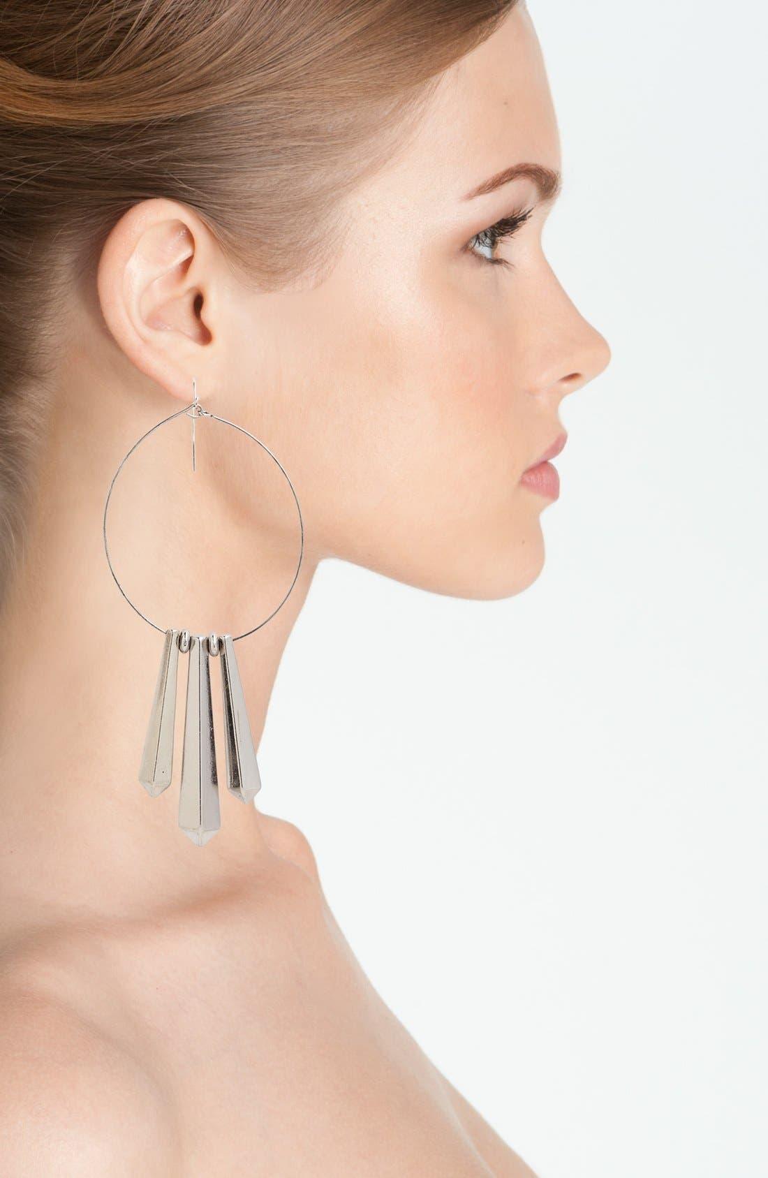 Alternate Image 2  - Panacea Hoop Earrings