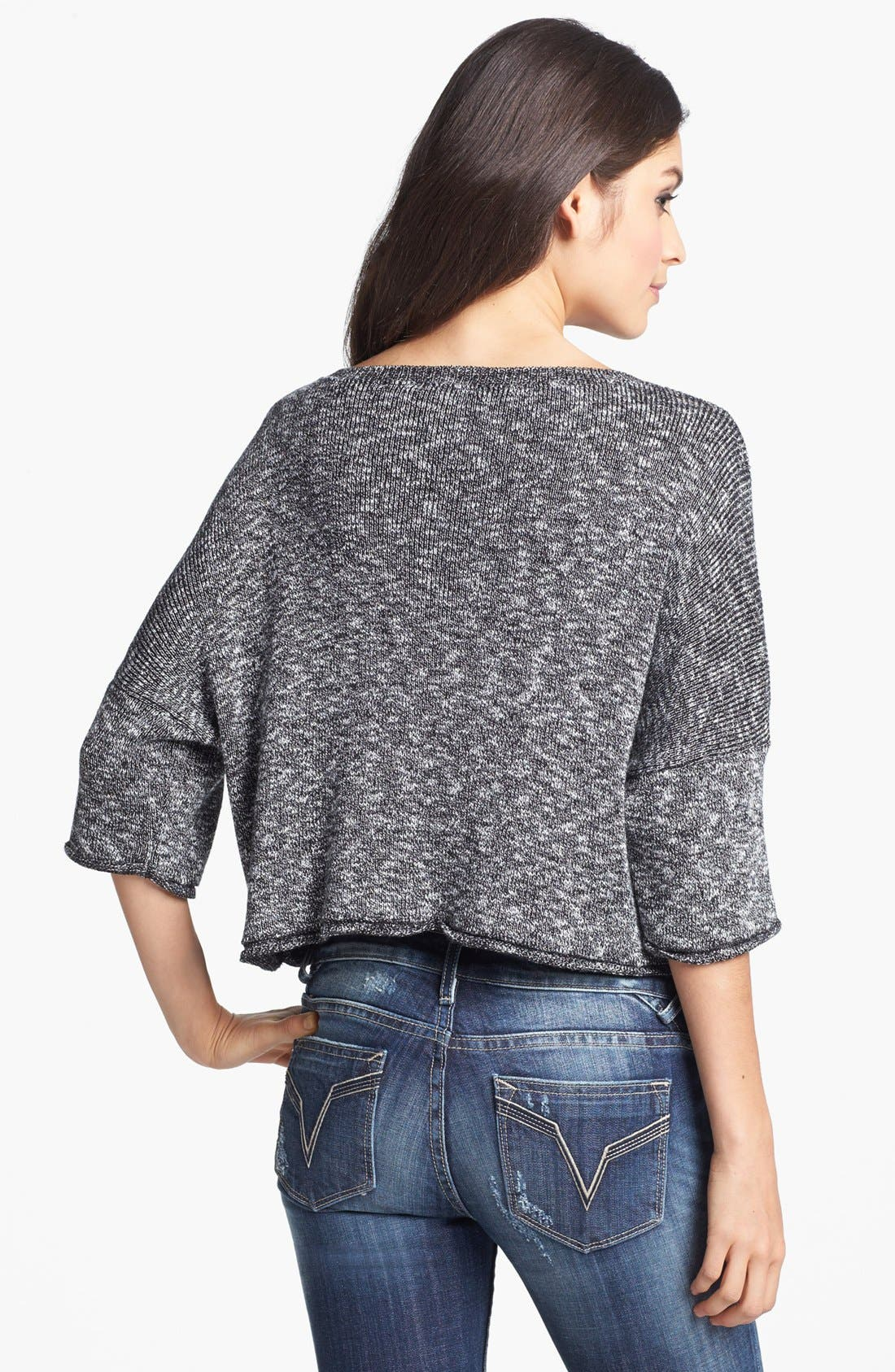 Alternate Image 2  - Truehitt Marled Crop Sweater (Juniors)