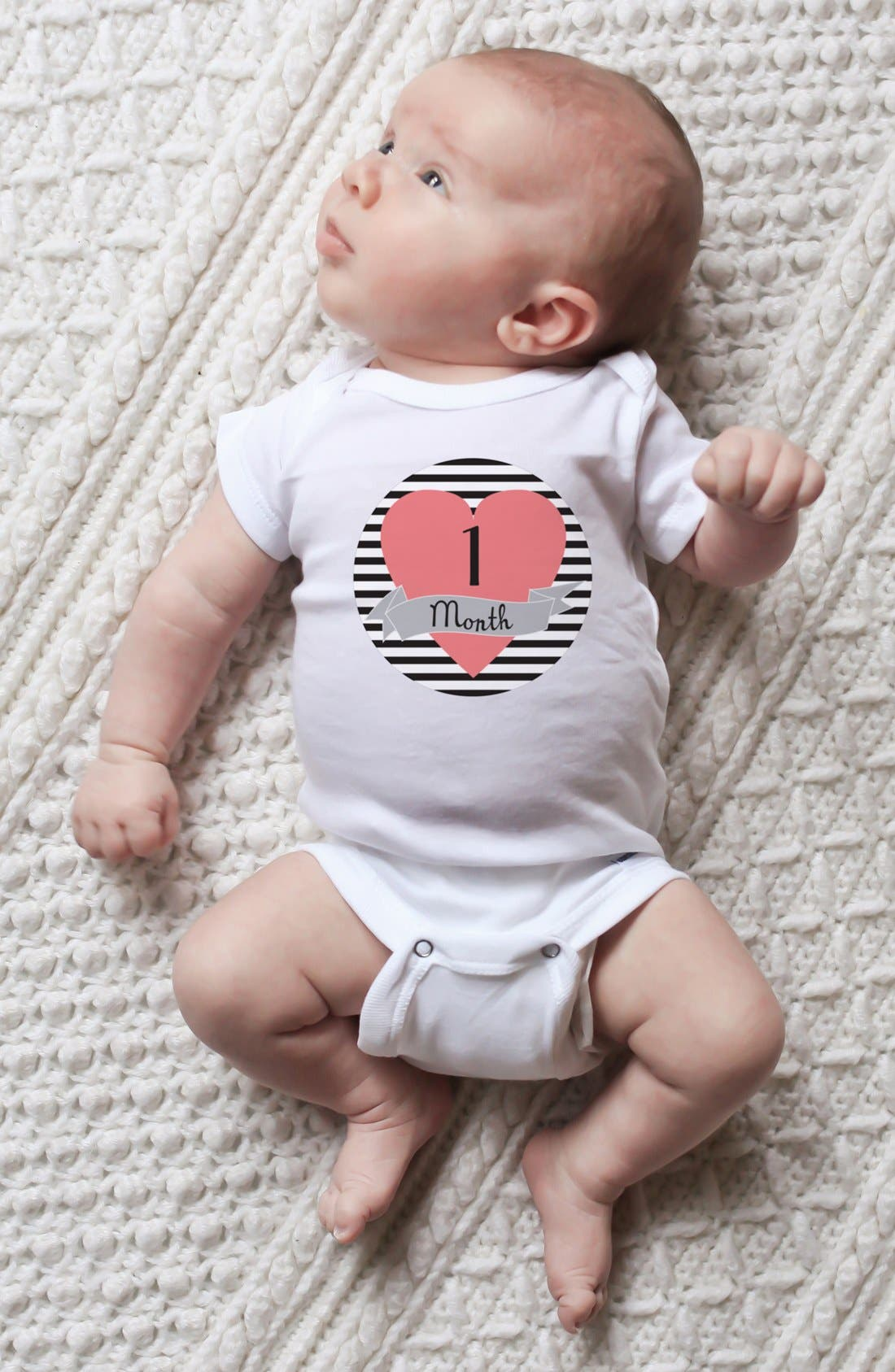 Alternate Image 4  - Lucy Darling Bodysuit & Stickers (Baby)