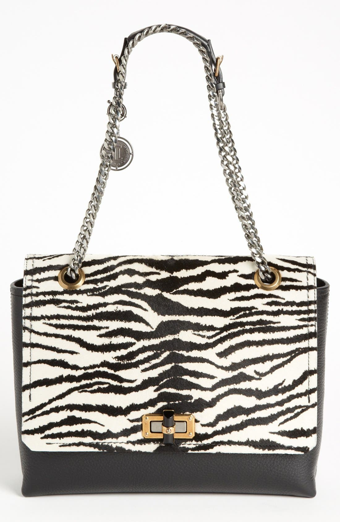 Alternate Image 1 Selected - Lanvin 'Happy Zebra' Calf Hair Flap Shoulder Bag