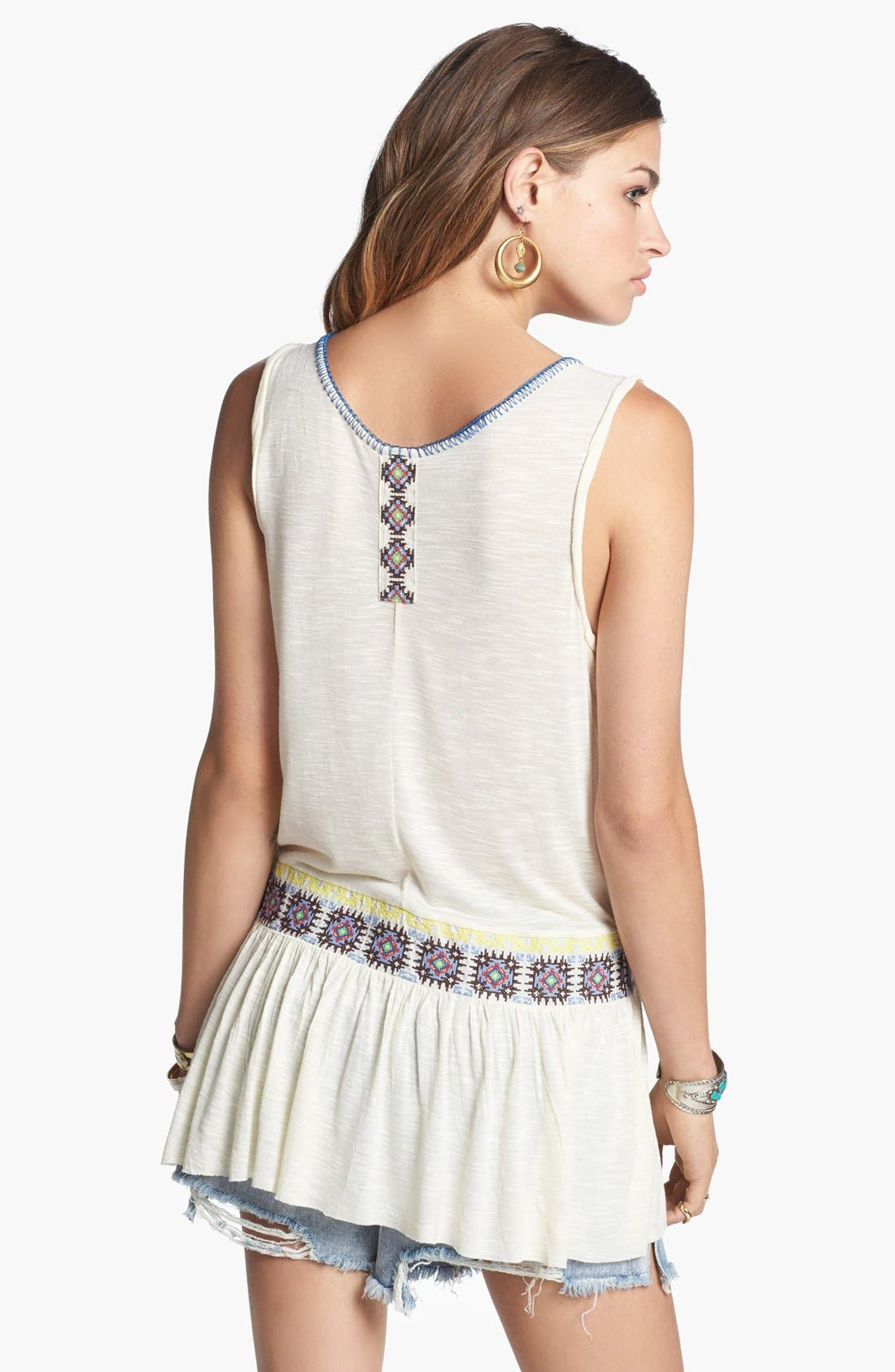 Alternate Image 2  - Free People 'Moonlight Mile' Embroidered Tank