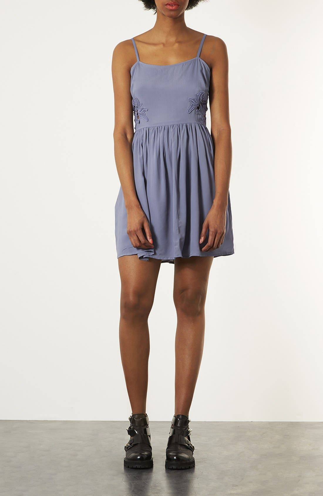 Alternate Image 1 Selected - Topshop Crochet Panel Sundress