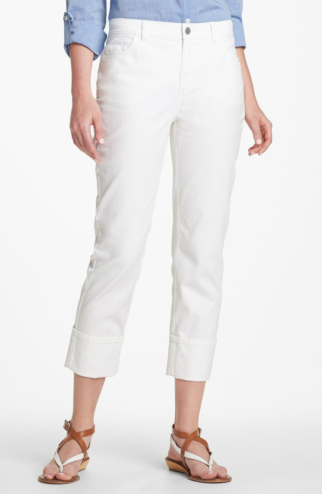 Alternate Image 1 Selected - Lafayette 148 New York Curvy Fit Crop Jeans