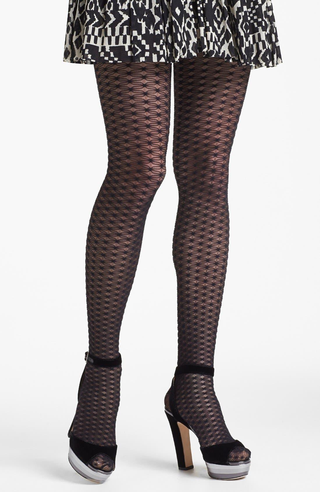 Main Image - Calvin Klein Sheer Texture Pantyhose