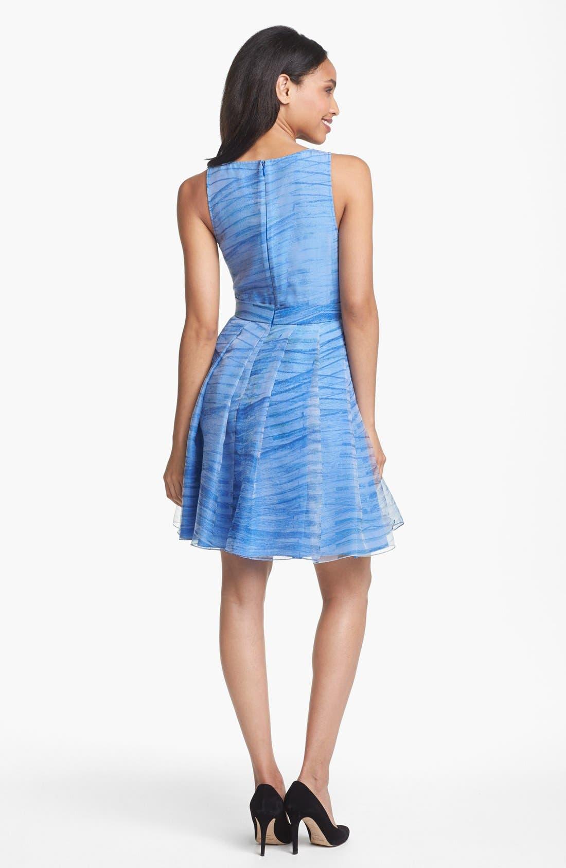 Alternate Image 2  - Halston Heritage Print Organza Fit & Flare Dress