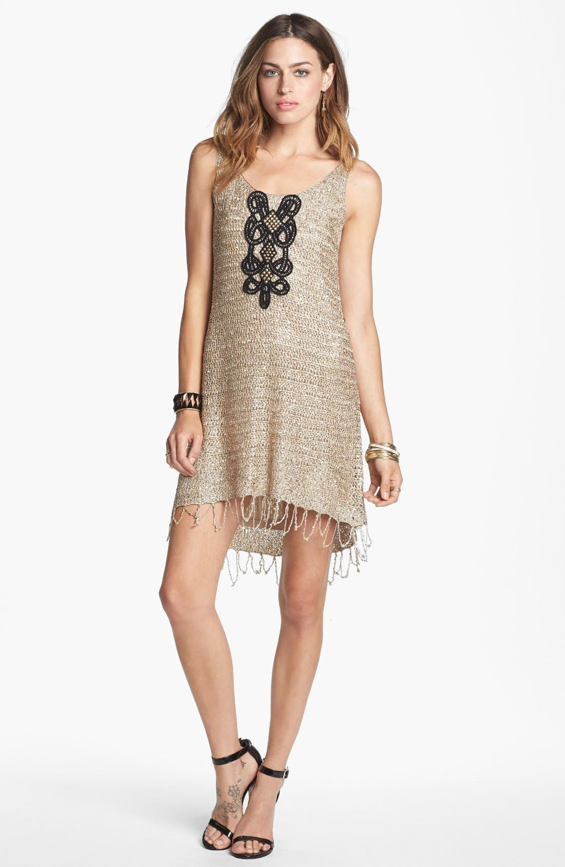 Alternate Image 1 Selected - Free People 'Golden Sand' Embellished Dress