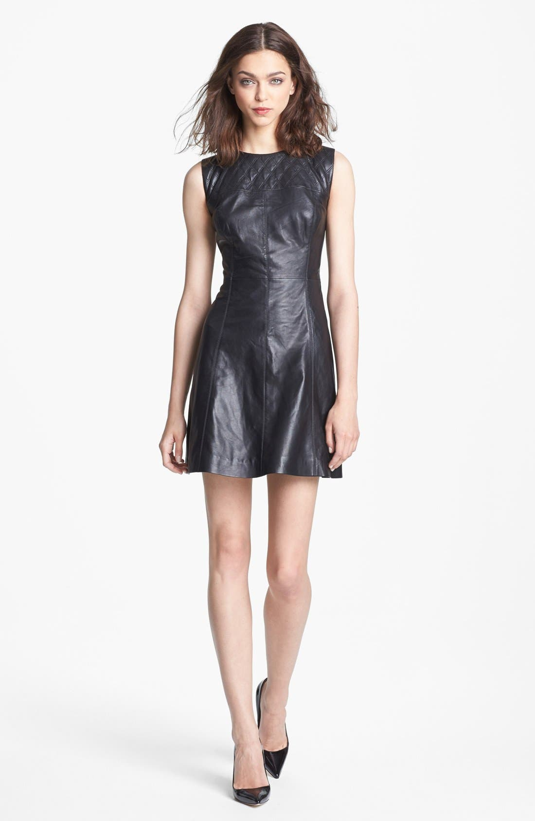 Main Image - Miss Wu Leather Dress (Nordstrom Exclusive)