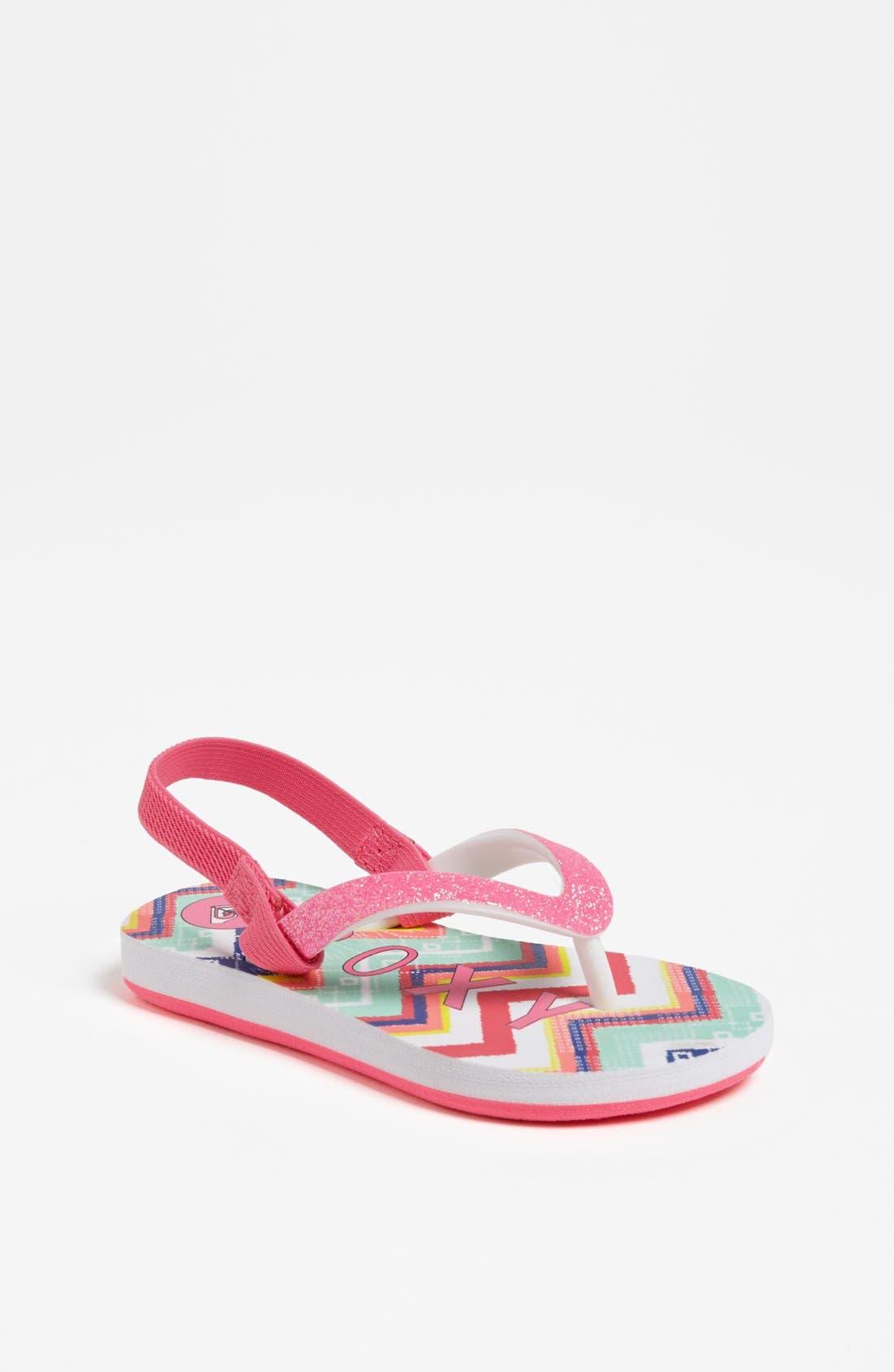 Alternate Image 1 Selected - Roxy 'Tahiti' Sandal (Walker & Toddler)