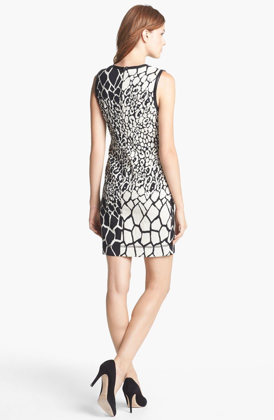 Alternate Image 2  - Nicole Miller Jacquard Sheath Dress