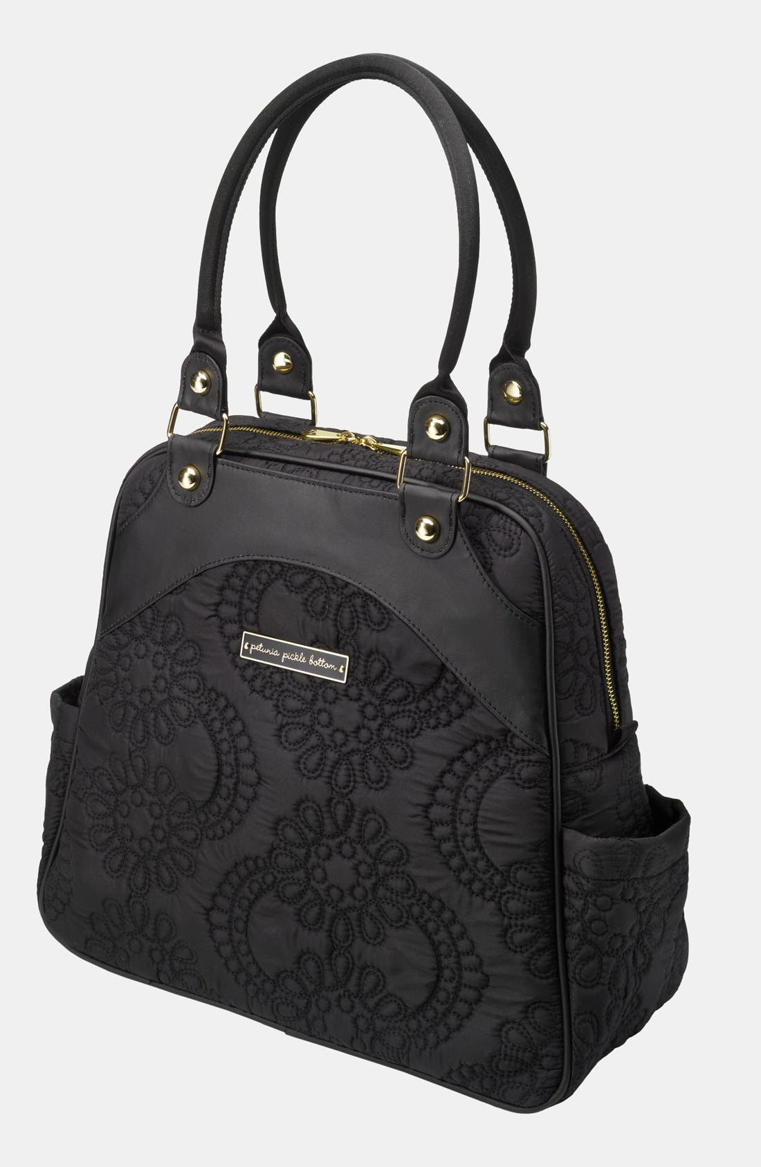 'Embossed Sashay' Diaper Bag,                         Main,                         color, Central Park North Stop
