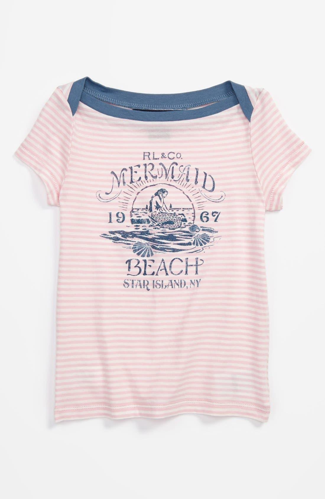 Alternate Image 1 Selected - Ralph Lauren Jersey Tee (Toddler Girls)