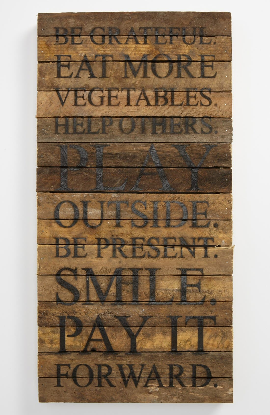 Alternate Image 1 Selected - 'Be Grateful' Wood Wall Plaque