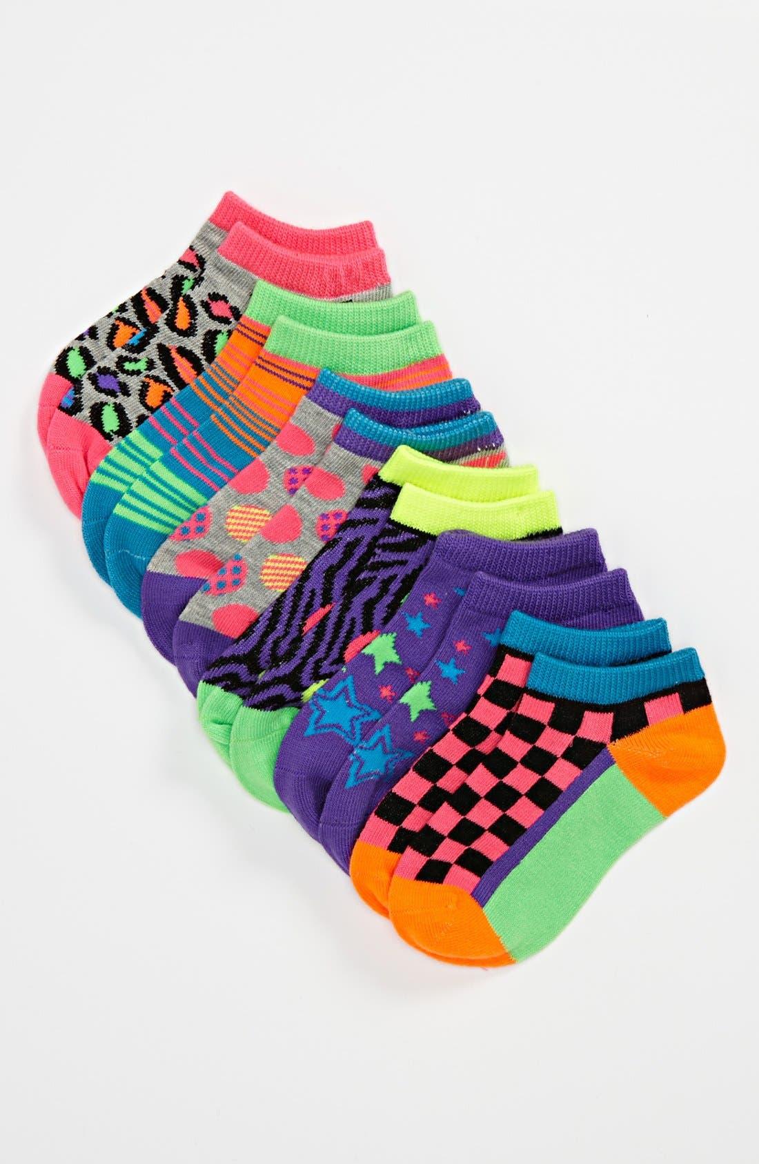 Alternate Image 1 Selected - Nordstrom Low Cut Socks (6-Pack)(Toddler, Little Girls & Big Girls)