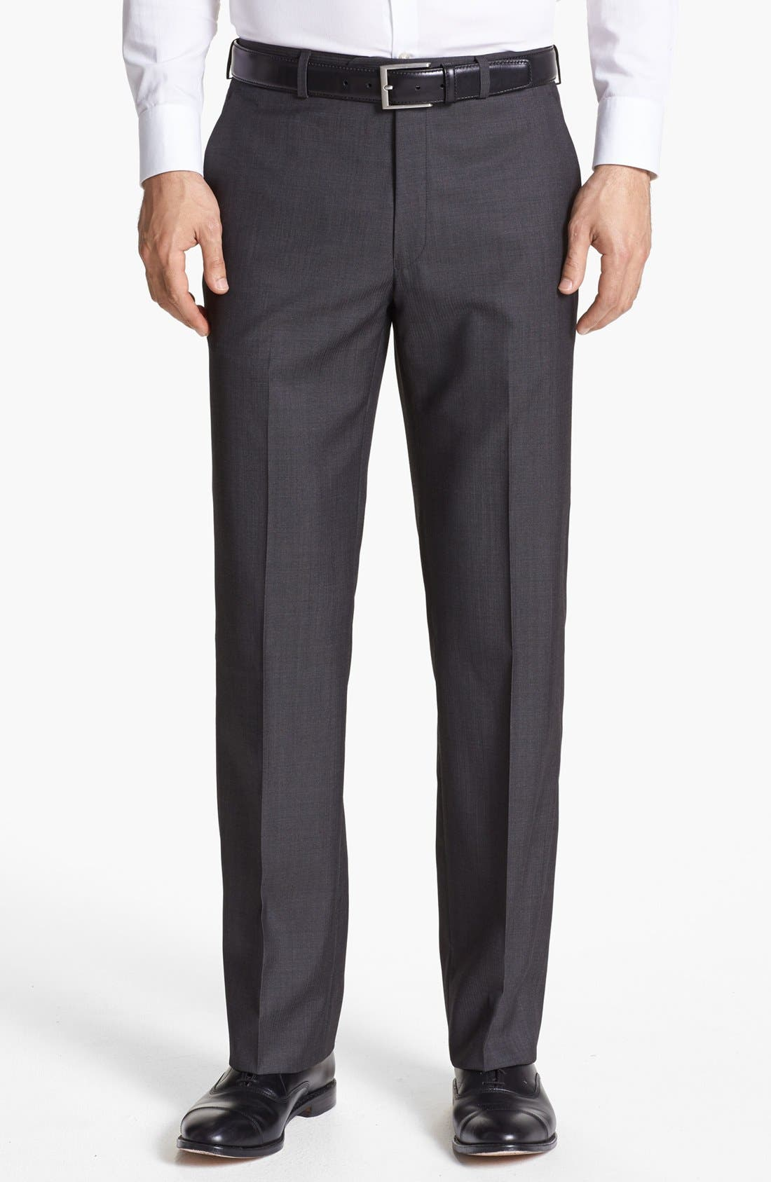 Alternate Image 1 Selected - John Varvatos Star USA  'Thompson' Flat Front Trousers