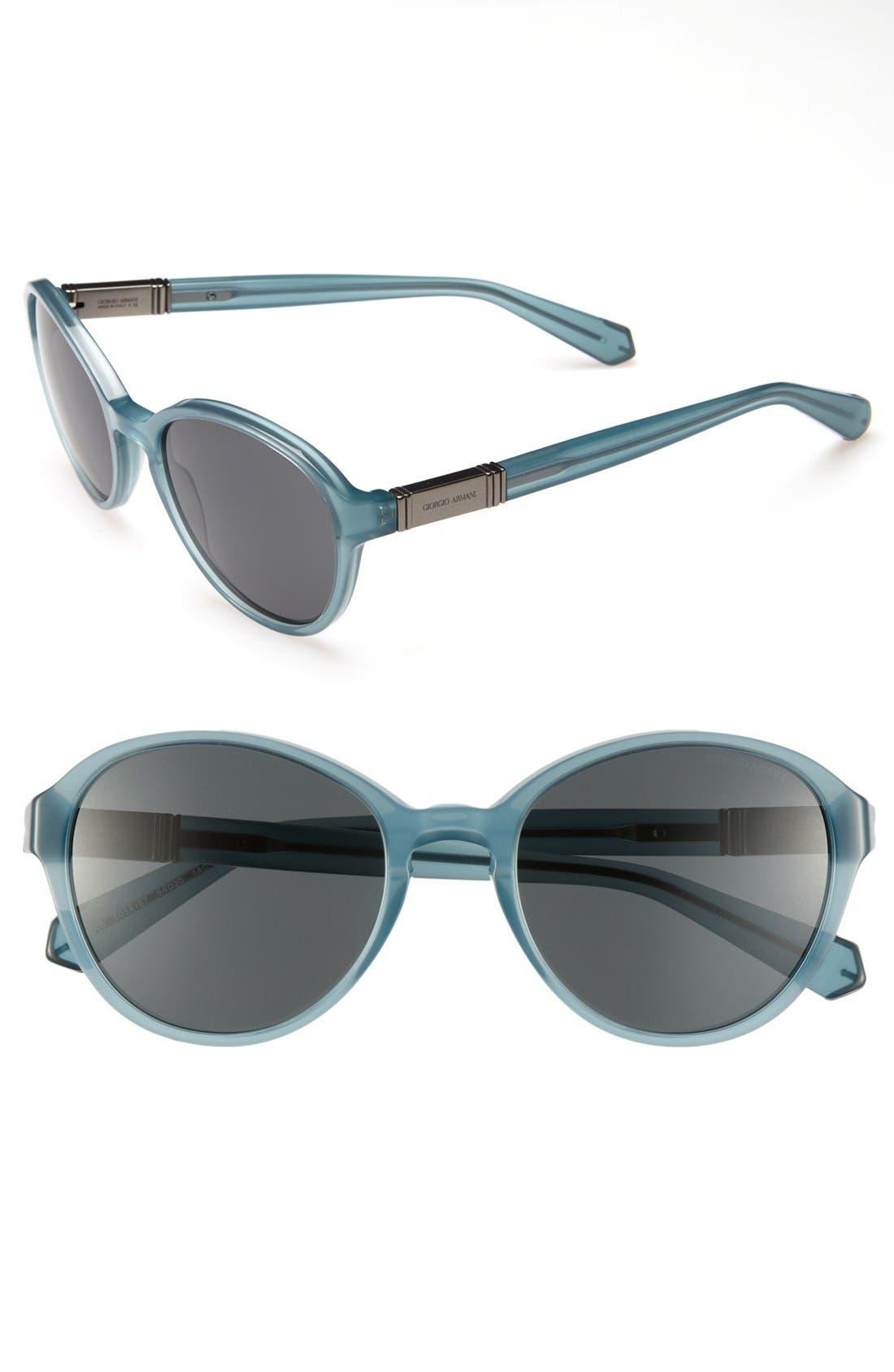 Alternate Image 1 Selected - Giorgio Armani 54mm Round Sunglasses