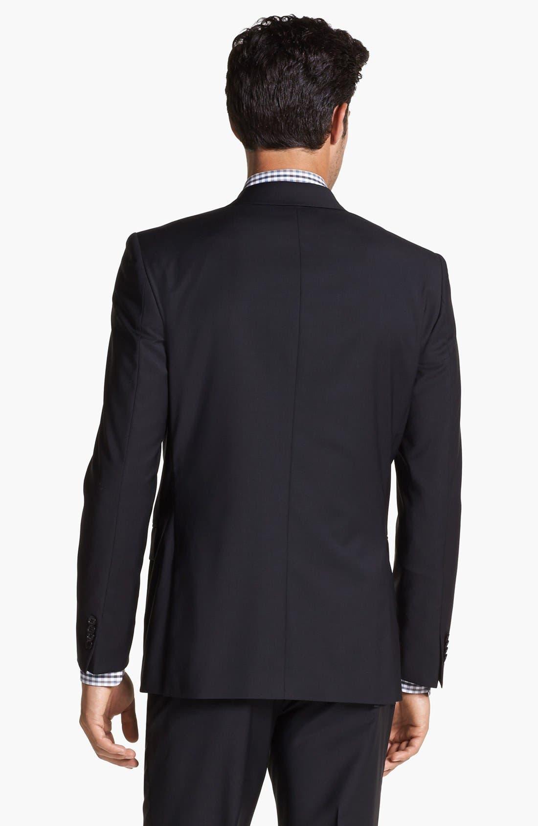 Alternate Image 2  - John Varvatos Star USA 'Townshend' Trim Fit Black Wool Blazer