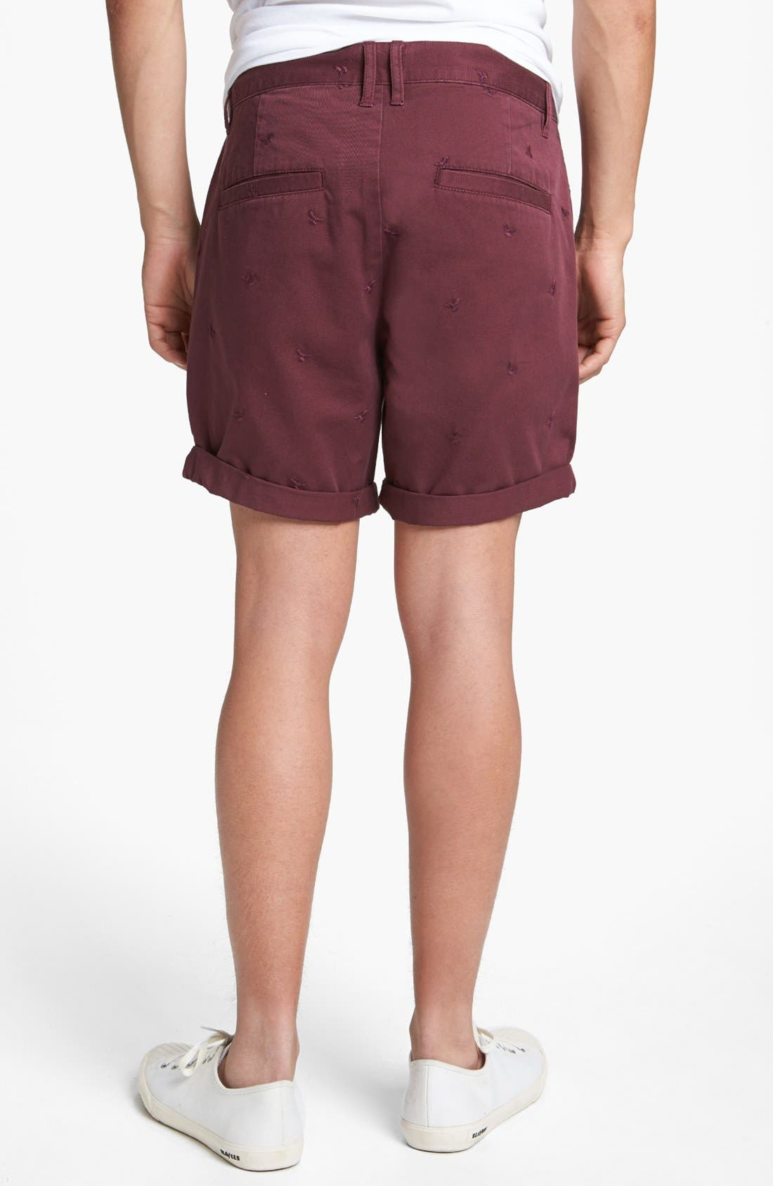 Alternate Image 2  - Topman Eagle Embroidered Shorts