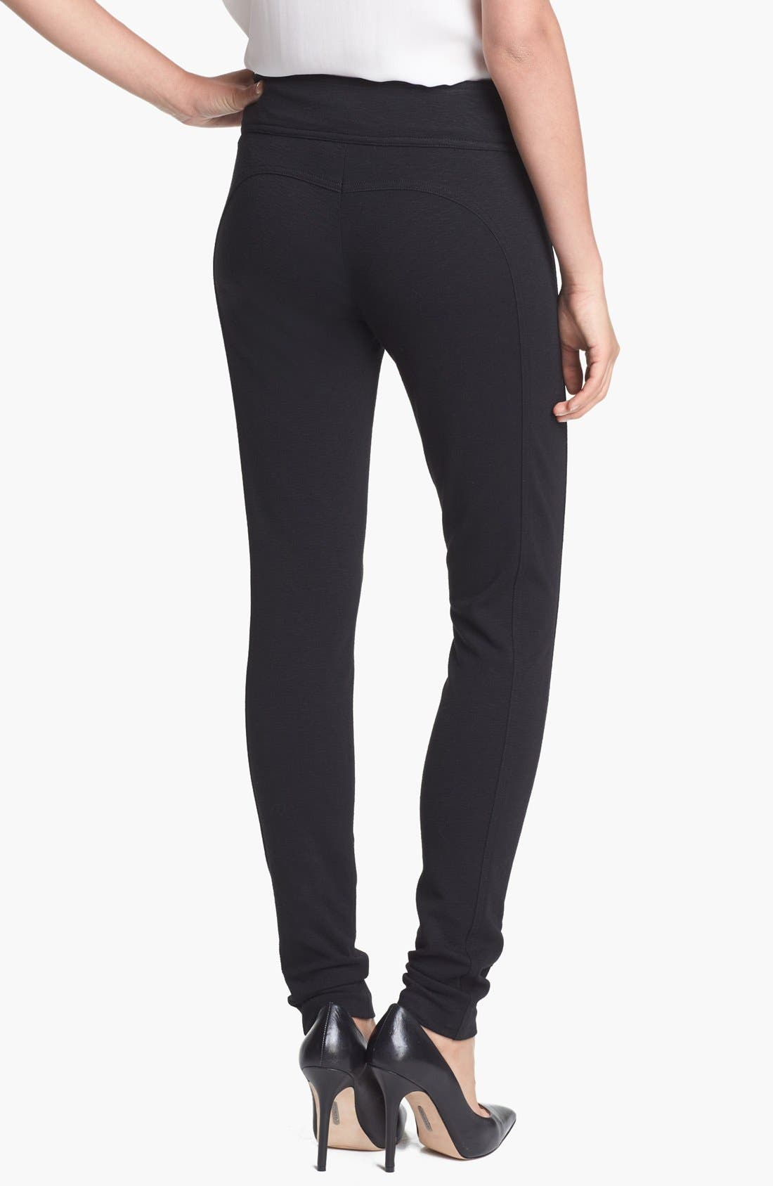 Alternate Image 2  - Diane von Furstenberg 'Lendra' Seamed Knit Leggings