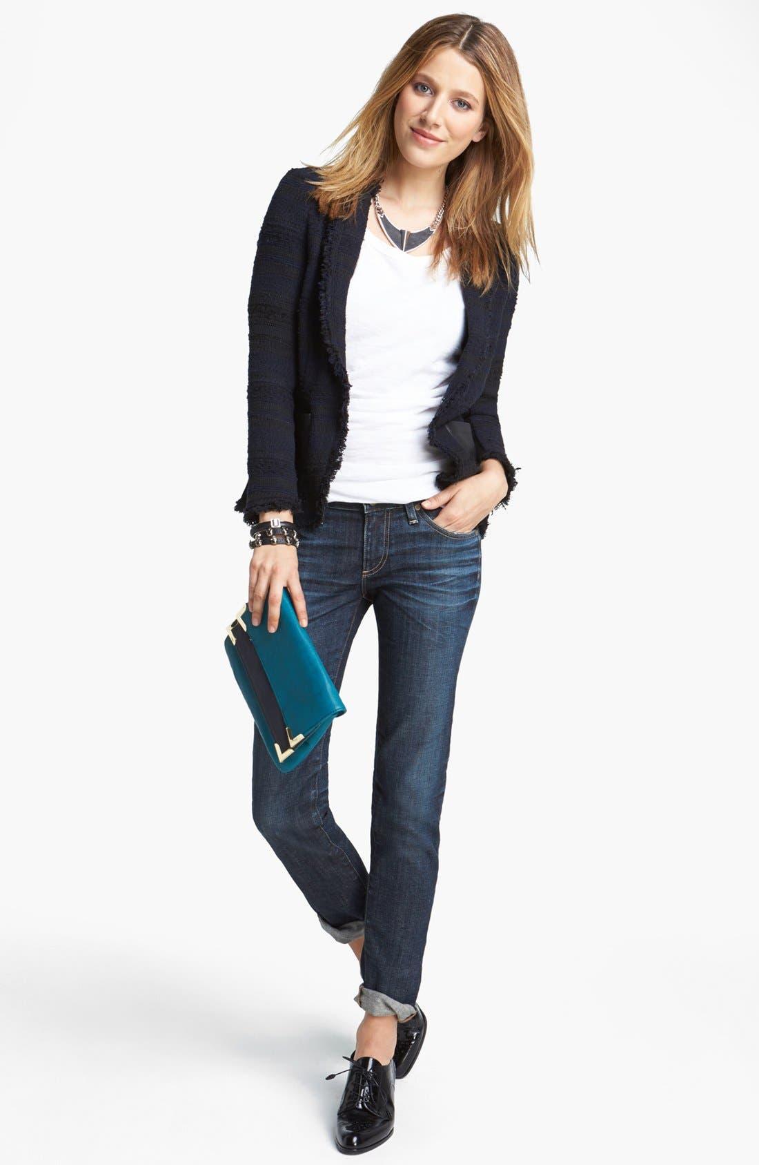 Alternate Image 9  - AG 'The Stilt' Cigarette Leg Stretch Jeans (4 Year Coastline)