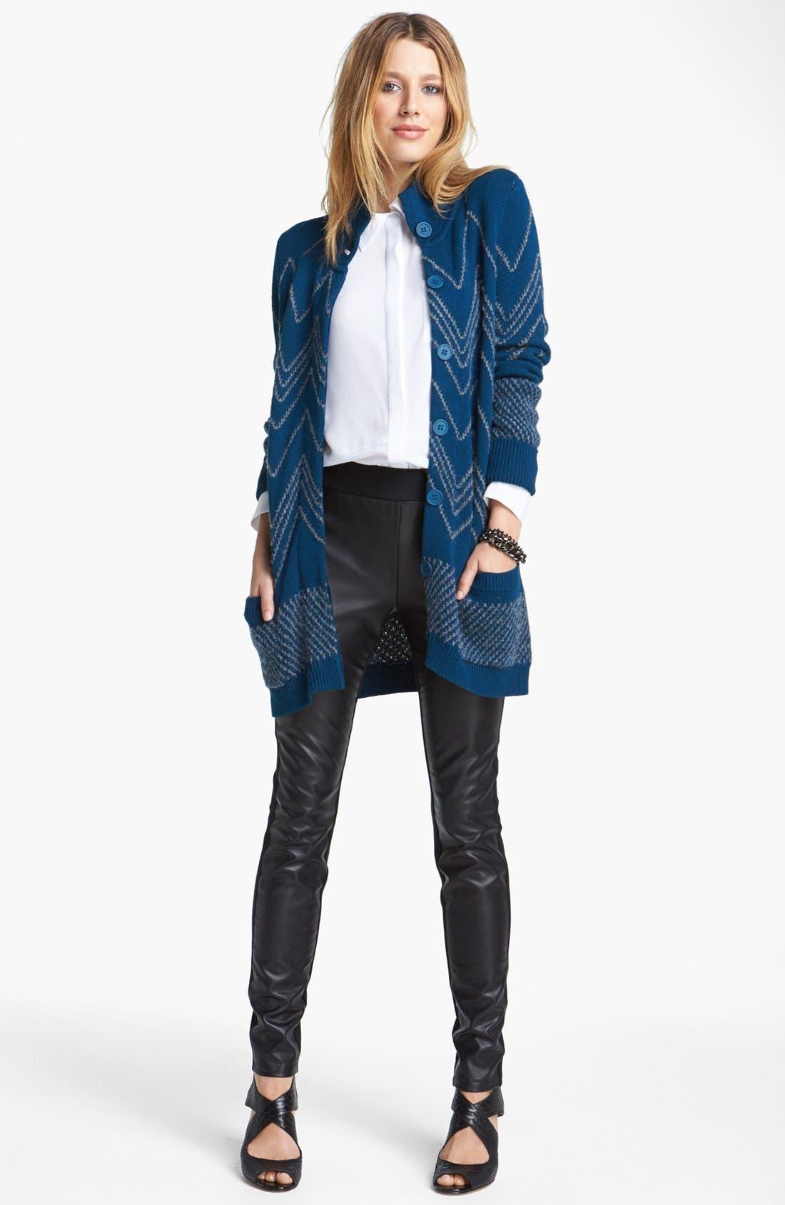 Alternate Image 4  - NYDJ Faux Leather & Stretch Ponte Leggings (Regular & Petite)