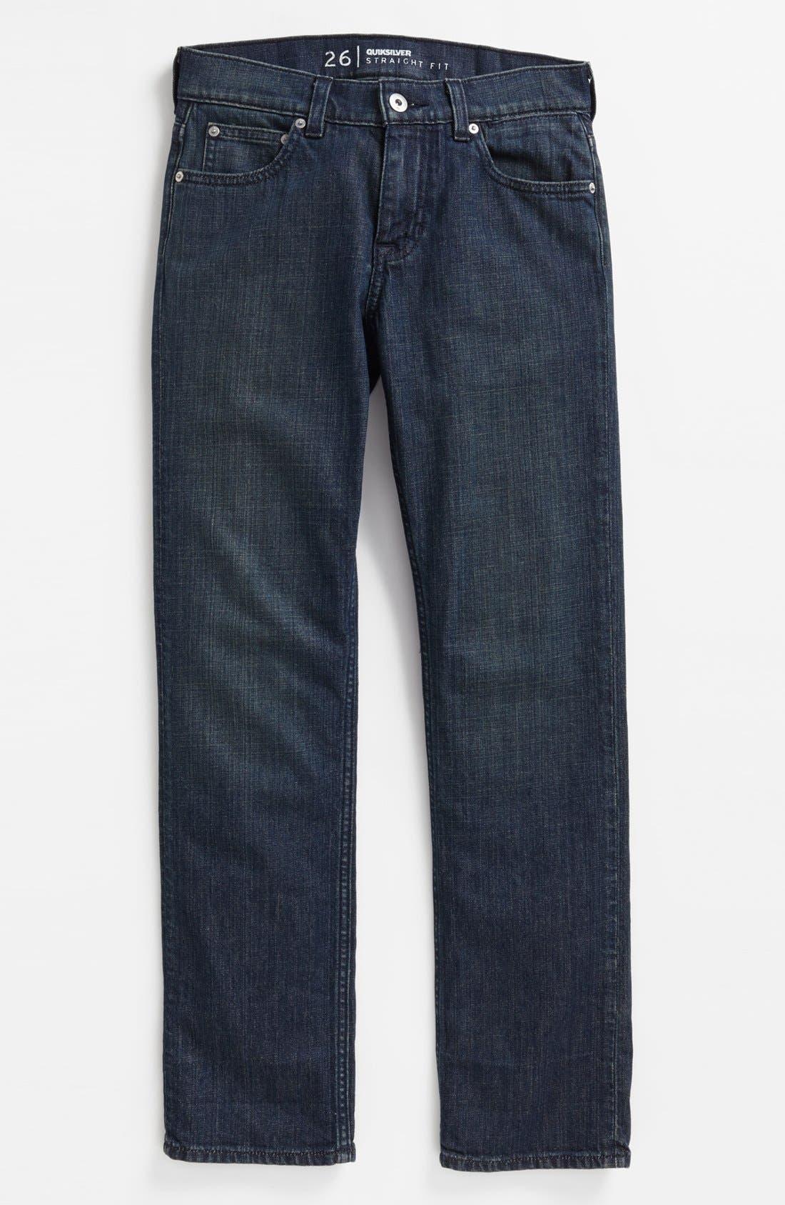 Alternate Image 2  - Quiksilver 'Revolver' Straight Leg Jeans (Big Boys)