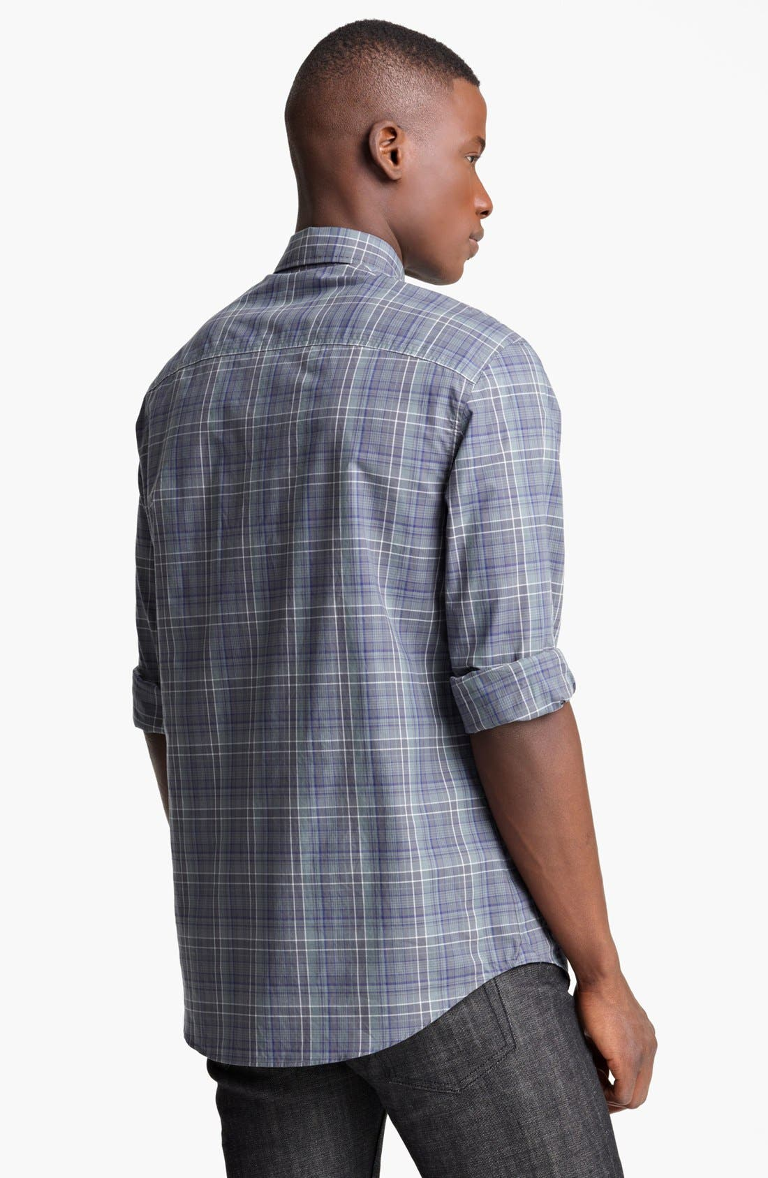 Alternate Image 2  - John Varvatos Collection Classic Fit Plaid Sport Shirt