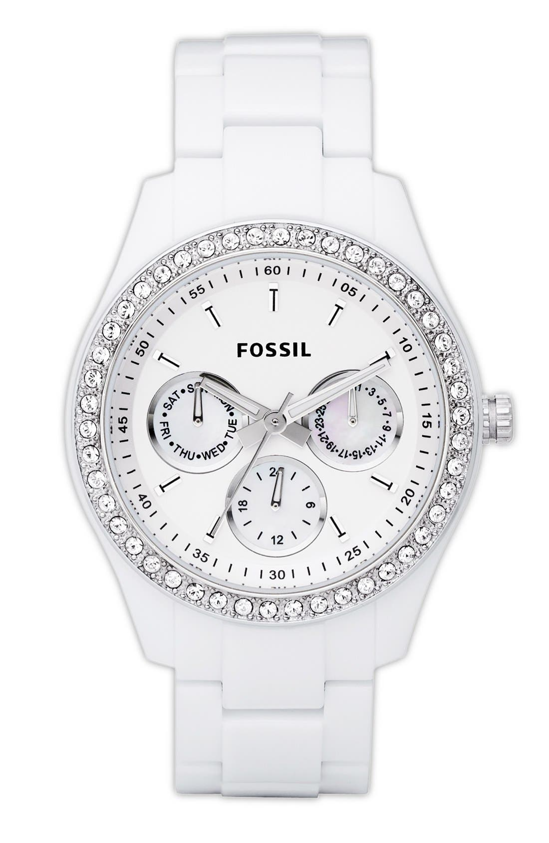 Alternate Image 1 Selected - Fossil Chronograph Bracelet Watch, 37mm