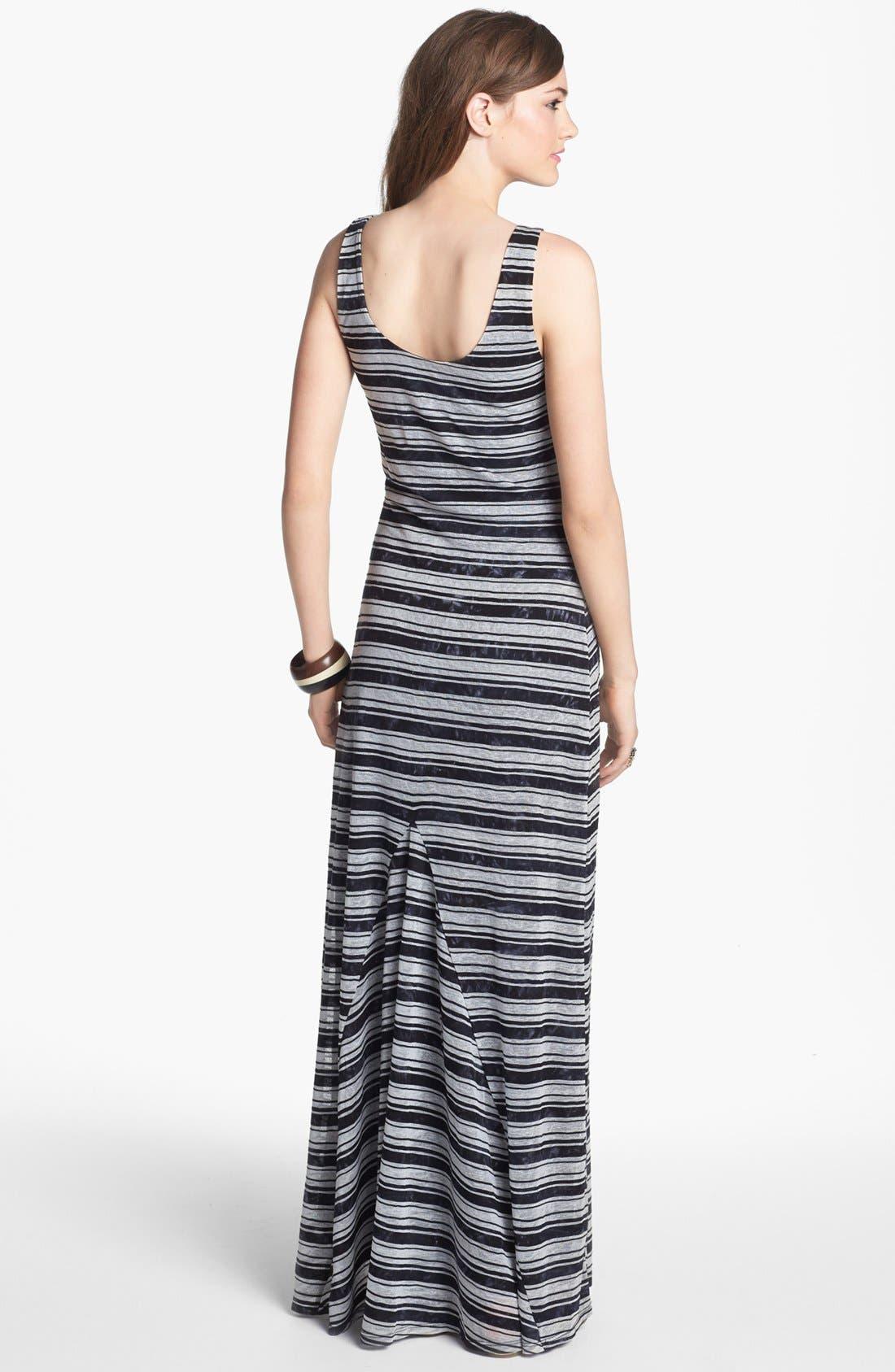 Alternate Image 2  - Socialite Stripe Maxi Dress (Juniors) (Online Only)