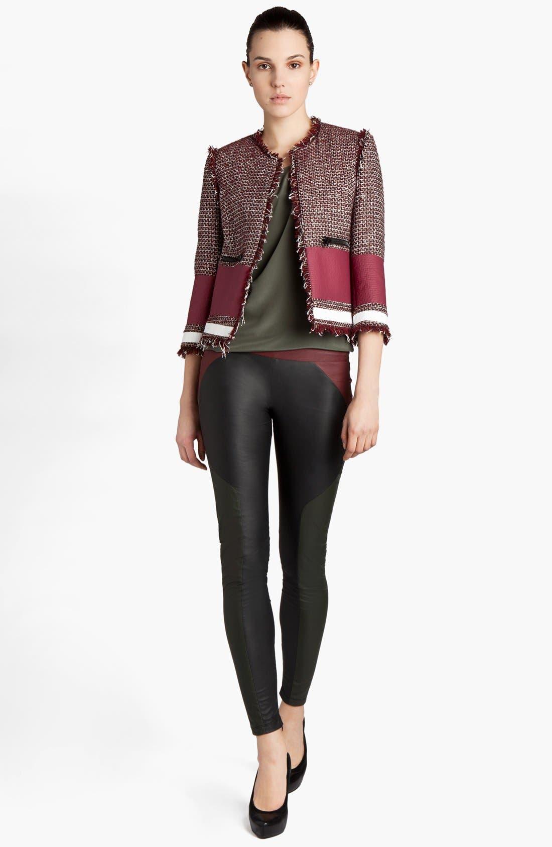 Alternate Image 1 Selected - MSGM Tweed Crop Jacket