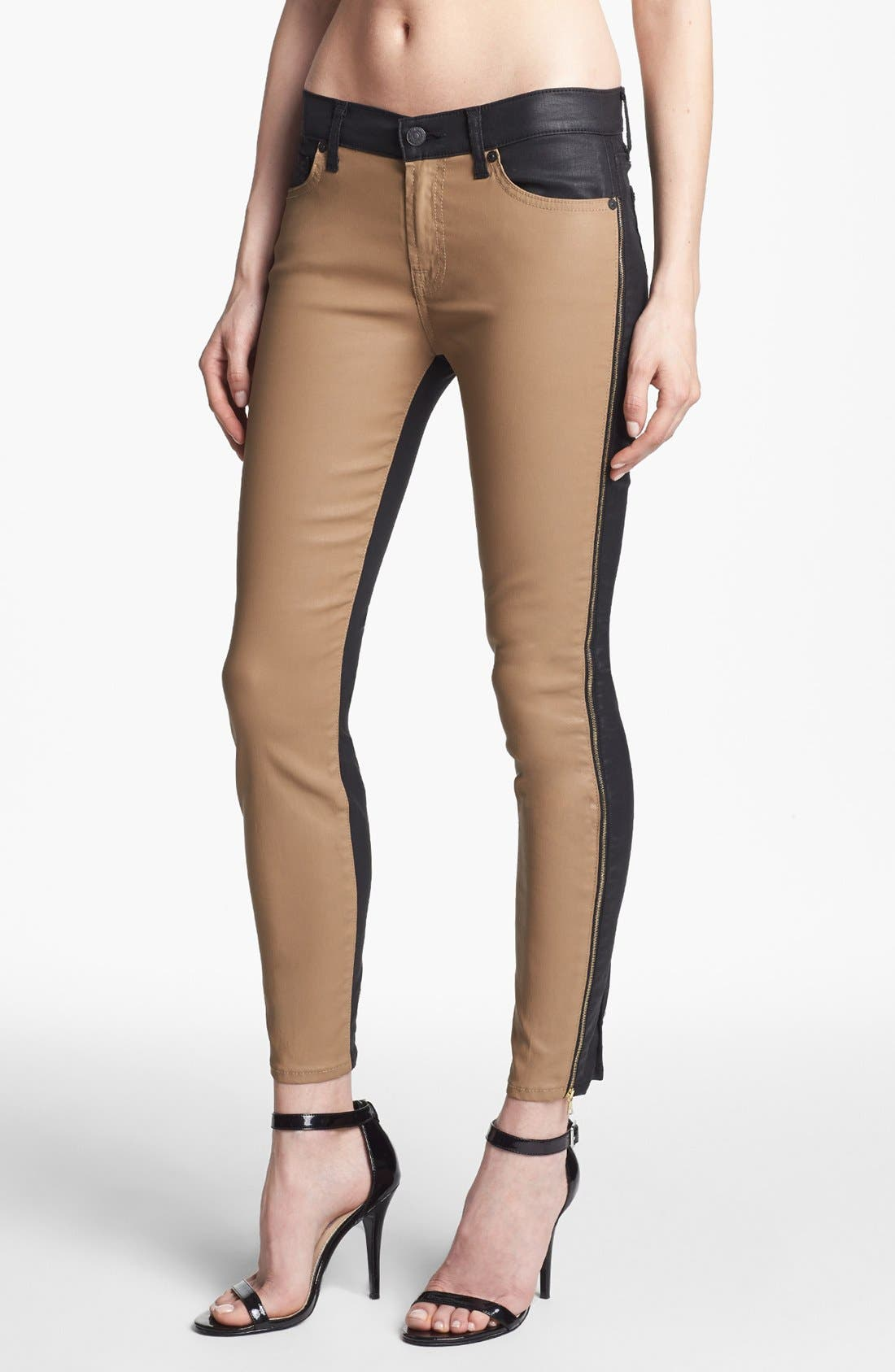 Alternate Image 1 Selected - 7 For All Mankind® Coated Side Zip Pants