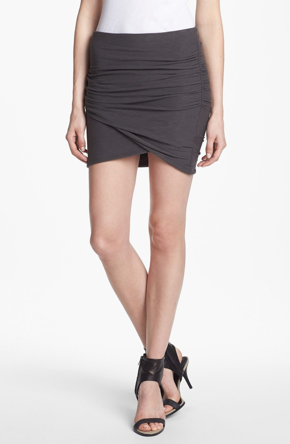 Main Image - James Perse Wrapped Miniskirt
