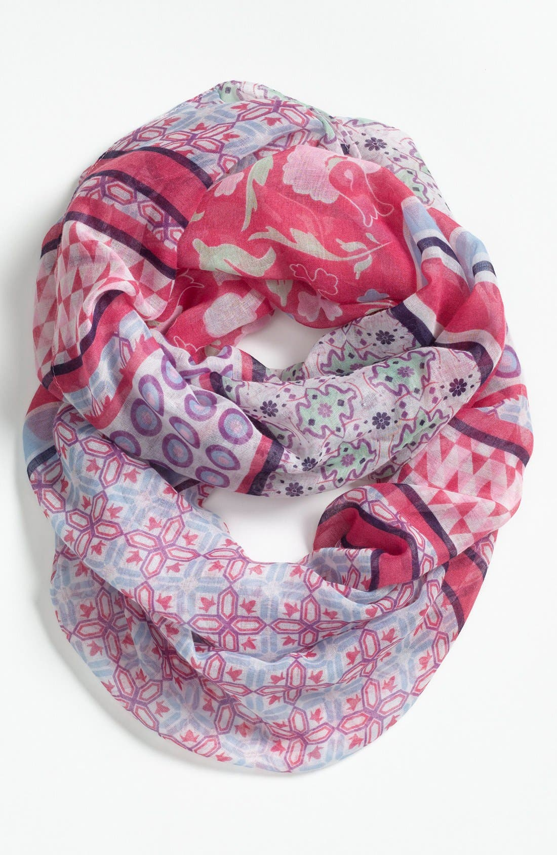 Alternate Image 1 Selected - Tildon Mixed Pattern Infinity Scarf