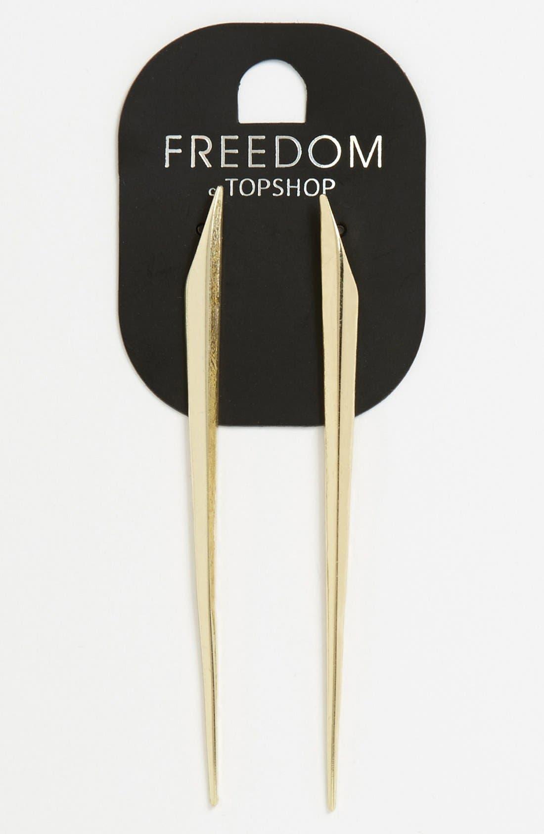 Main Image - Topshop 'Thin Shard' Earrings