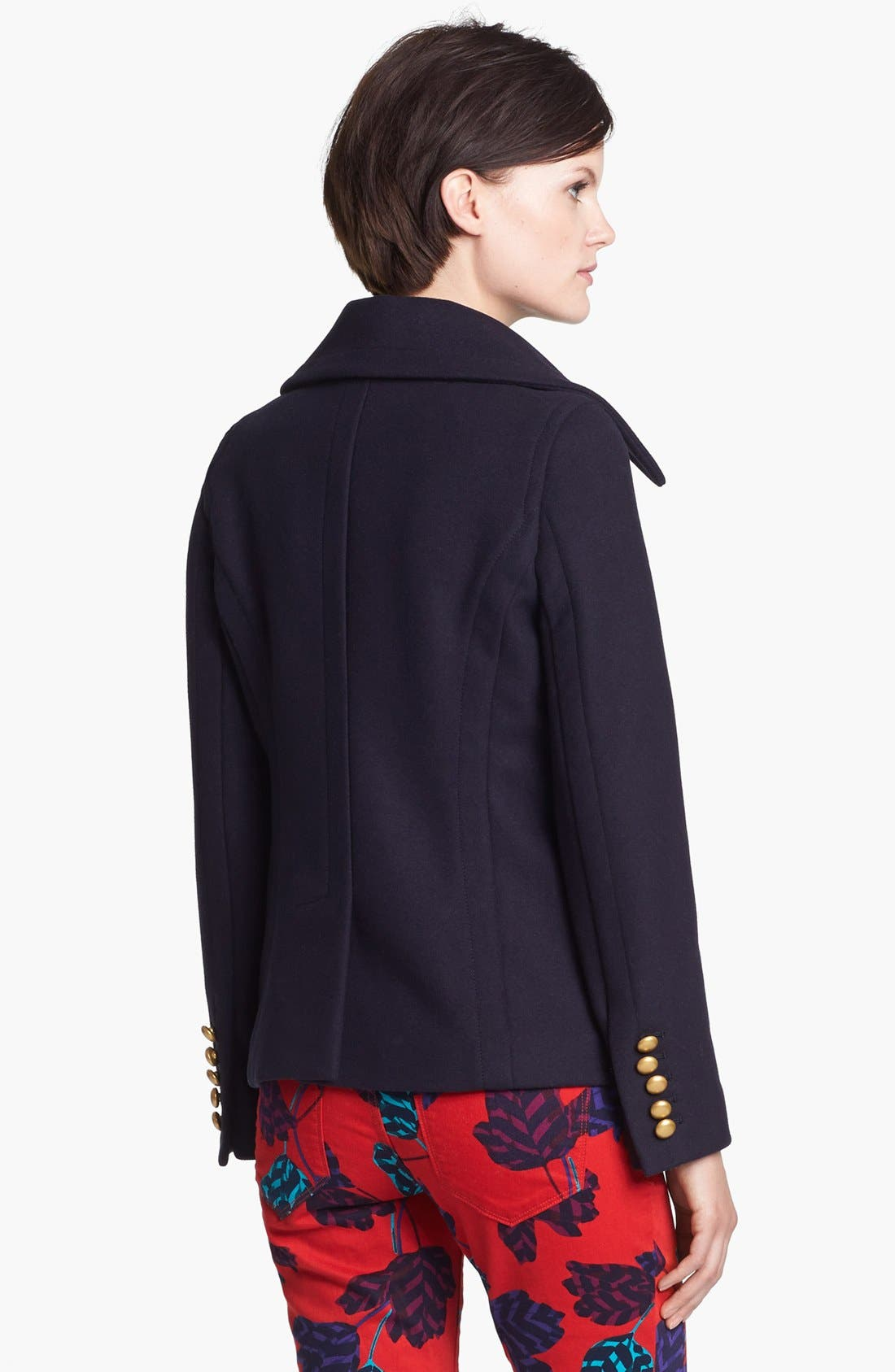 Alternate Image 2  - MARC BY MARC JACOBS 'Nicoletta' Wool Blend Peacoat