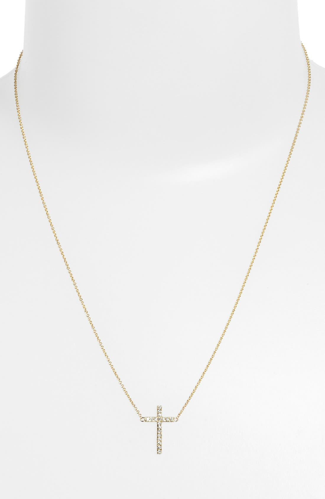 Alternate Image 2  - Bony Levy Diamond Cross Pendant Necklace (Nordstrom Exclusive)