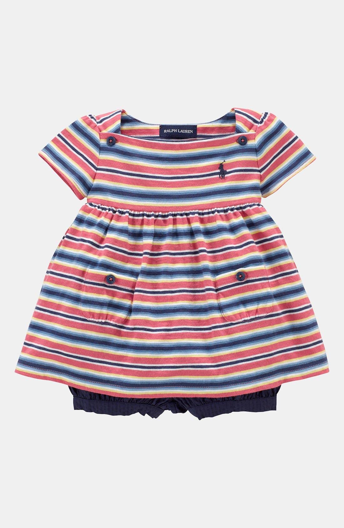 Alternate Image 1 Selected - Ralph Lauren Top & Shorts (Baby Girls)