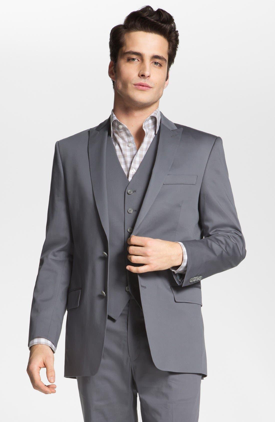 Main Image - John Varvatos Star USA 'City' Trim Fit Cotton Blend Sportcoat