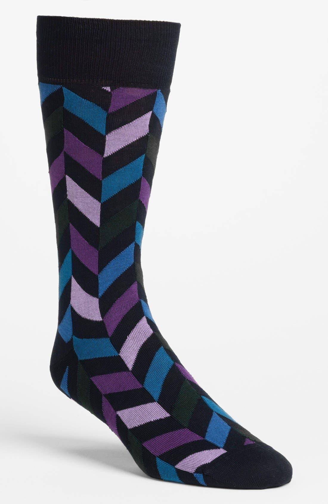 Main Image - BUGATCHI Herringbone Socks