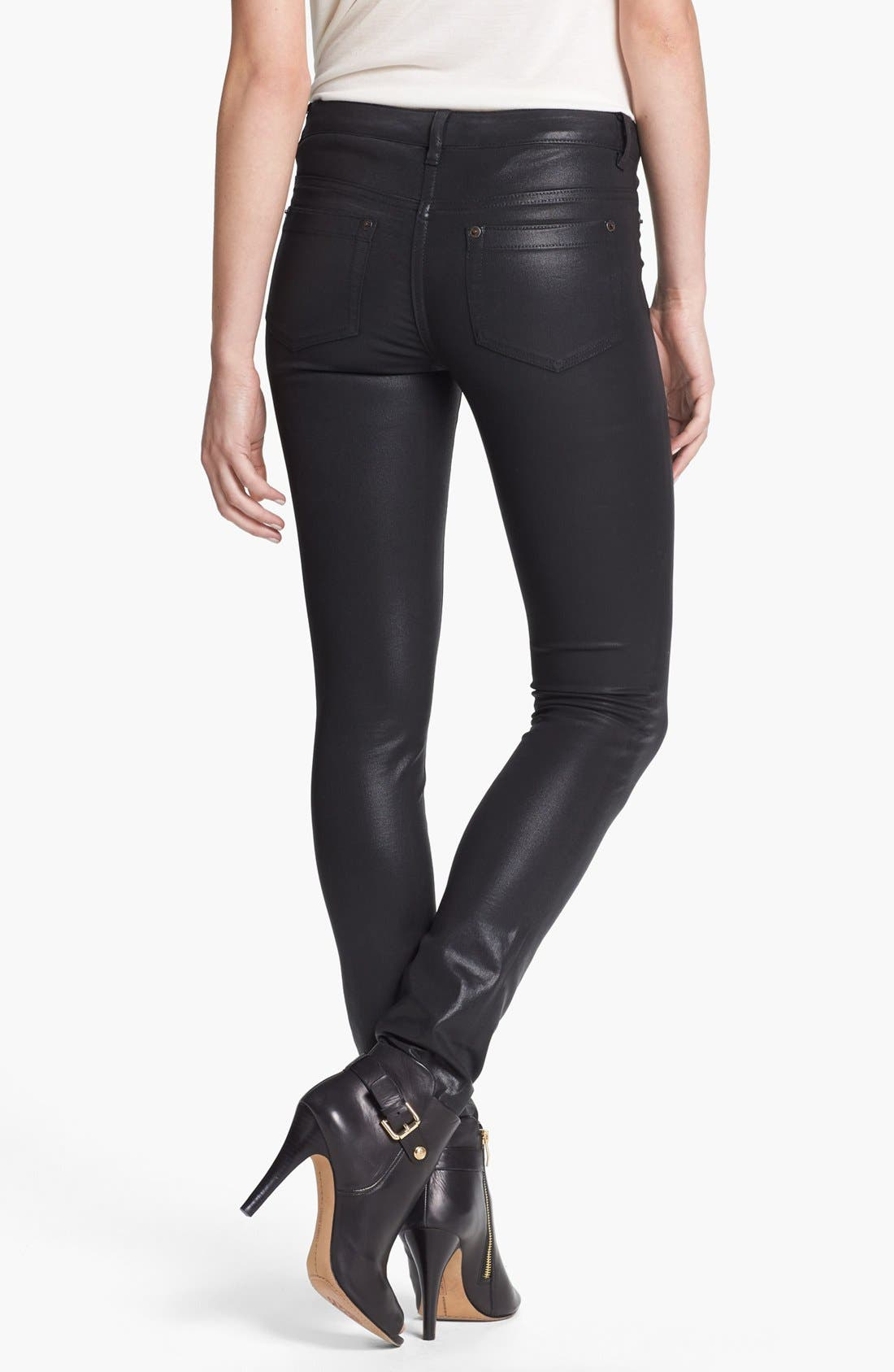 Alternate Image 2  - Two by Vince Camuto Coated Skinny Jeans