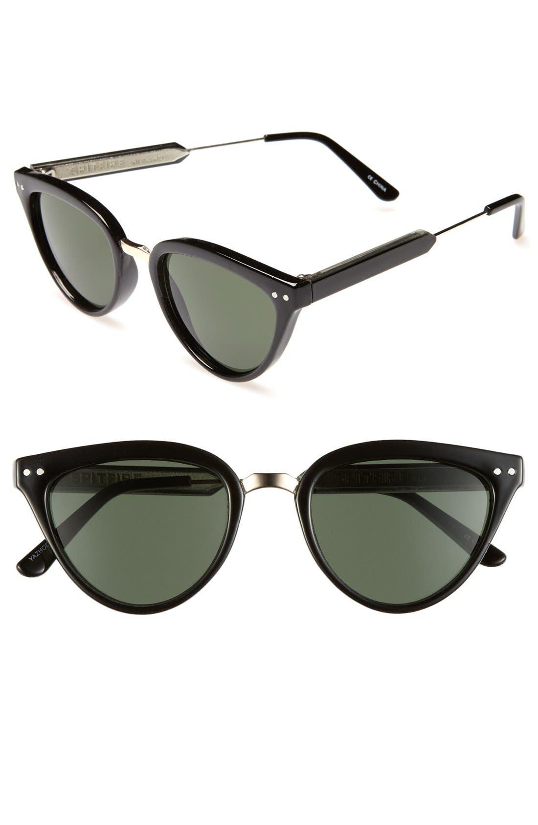 'Yazhoo' 50mm Sunglasses,                         Main,                         color, Black/ Black