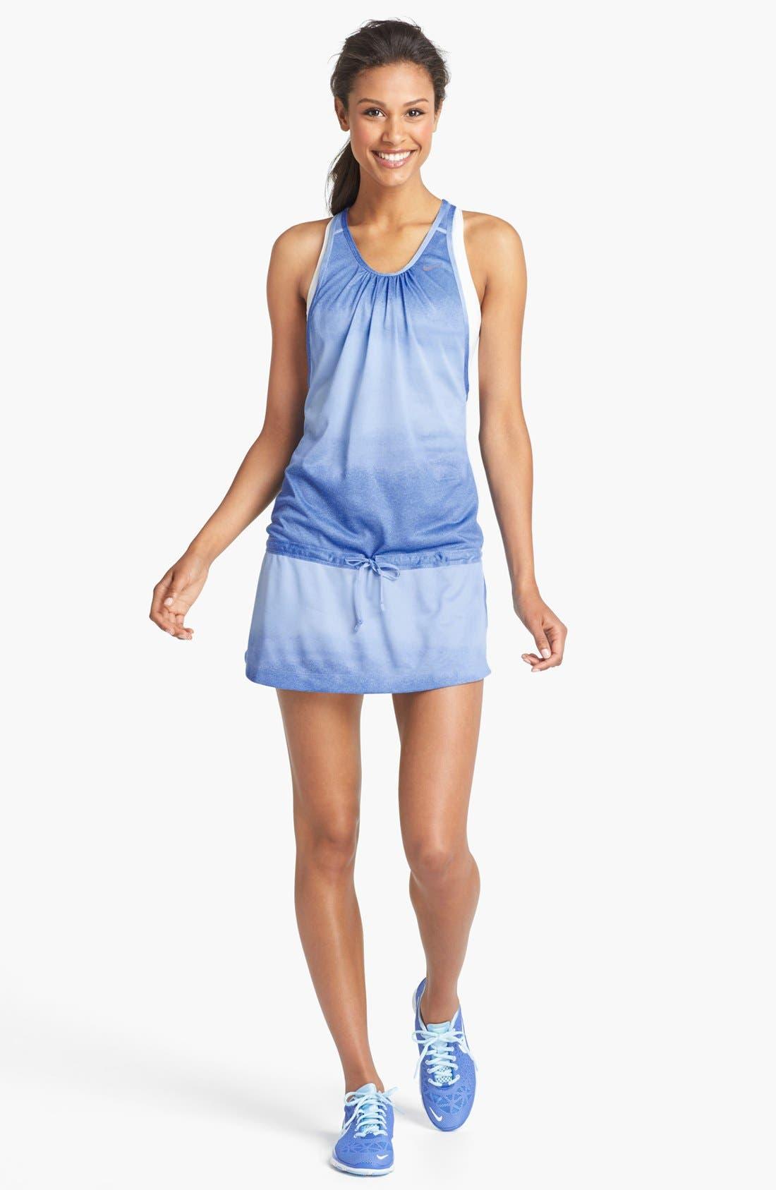 Alternate Image 1 Selected - Nike Tie Dye Running Dress